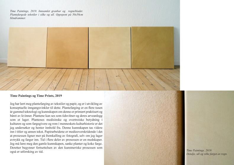 Time Paintings prosjekt 2019 side paintings